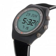 Наручные молодежные мусульманские часы alfajr / альфаджр WY-16 BLKGRY черные