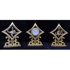 Сувенирные часы с статуэтками с надписью Аллах и Мухаммад